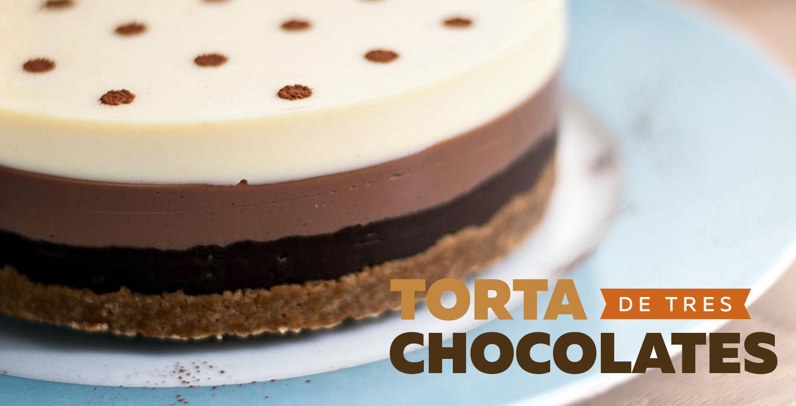 Torta de 3 chocolates