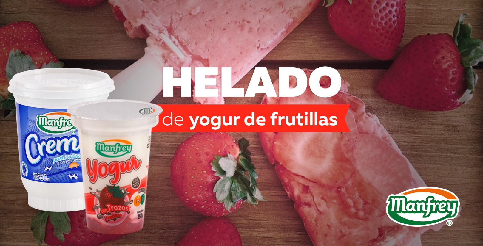 Helado de Yogur de frutillas