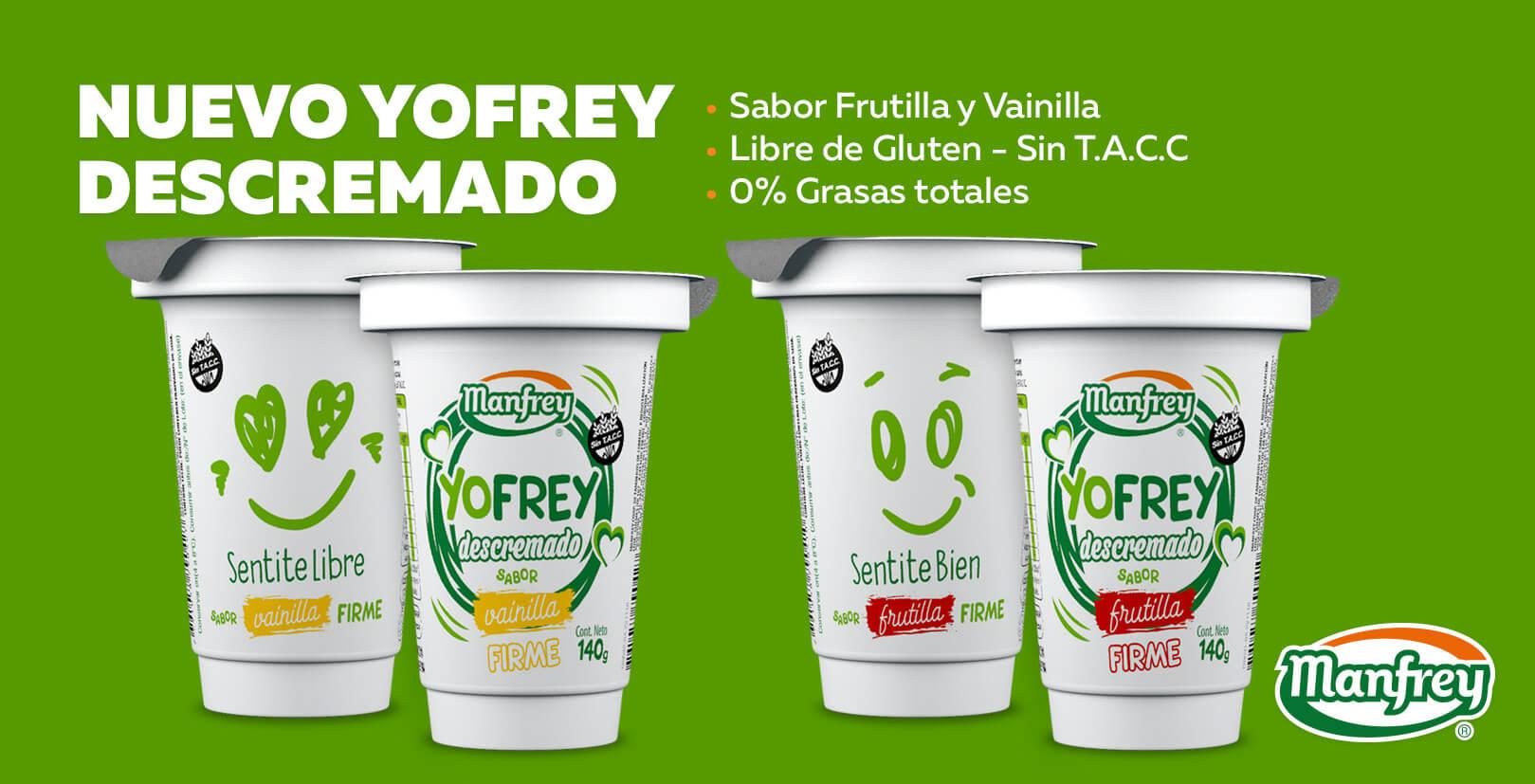 Yogurt Yofrey Dietético Descremado